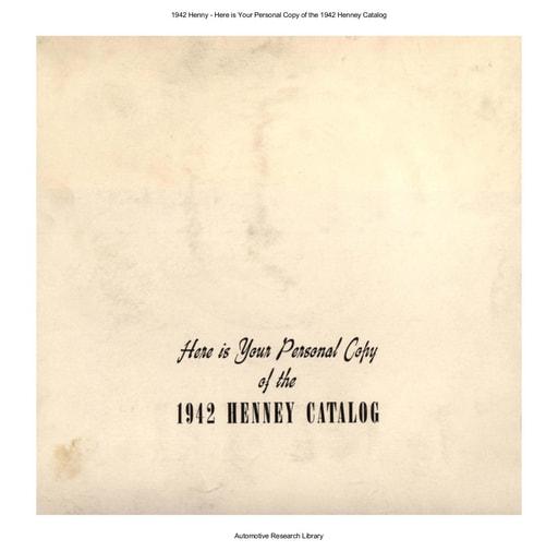 1942 Henny Catalog (38pgs)