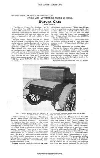 1905 Duryea   Cars (10pgs)