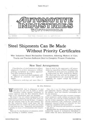 Auto Industries 1918 07 11