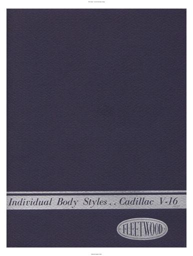 1933 Cadillac   Individual Body Styles (39pgs)