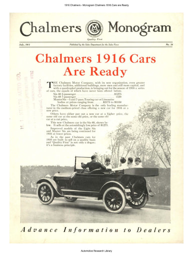 1916 Chalmers   Monogram Chalmers Cars are Ready (8pgs)