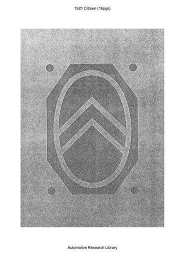 1921 Citroen (16pgs)
