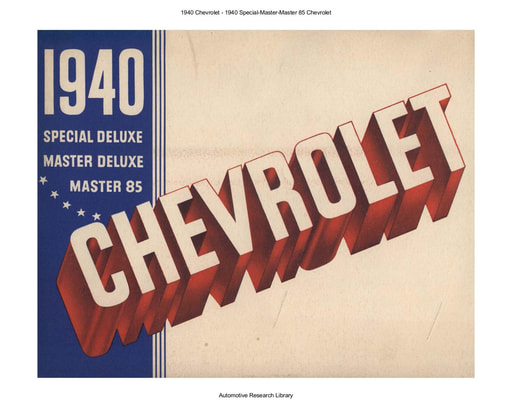 1940 Chevrolet   Special Master Master 85 (16pgs)