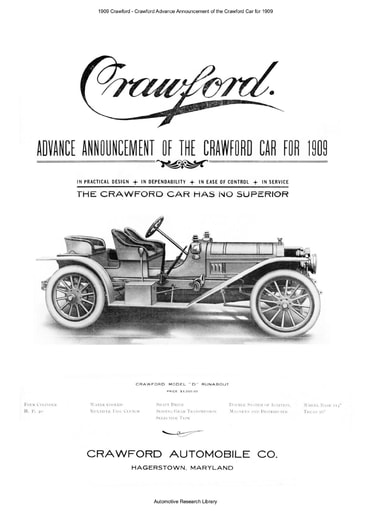1909 Crawford   Advance Announcement (4pgs)