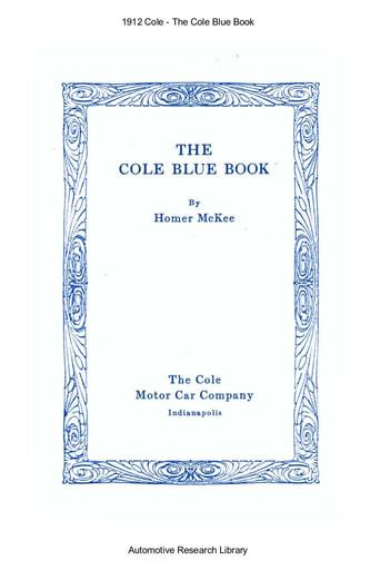 1912 Cole   Blue Book (54pgs)