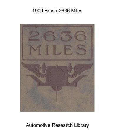 1909 Brush   2636 Miles (15pgs)