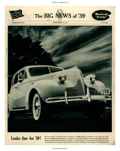 1939 Buick   The Big News of 39' (4pgs)