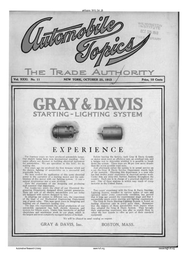 Auto Topics | 1913 Oct 25