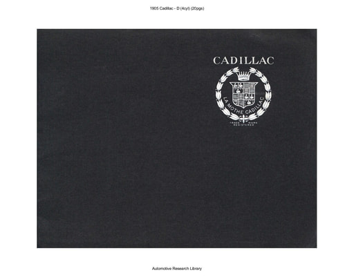1905 Cadillac   D (4cyl) (20pgs)