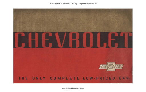1936 Chevrolet   The Only Complete Low Priced Car (20pgs)
