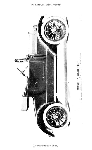 1914 Carter Car   Model 7 Roadster (64pgs)