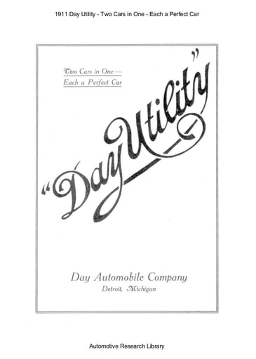 1911 Day Utility   Two Cars in One (14pgs)
