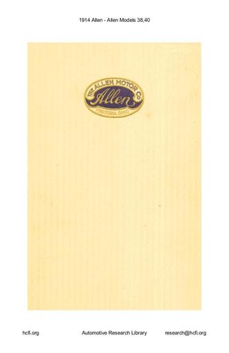 1914 Allen   Models 38,40 (15pgs)