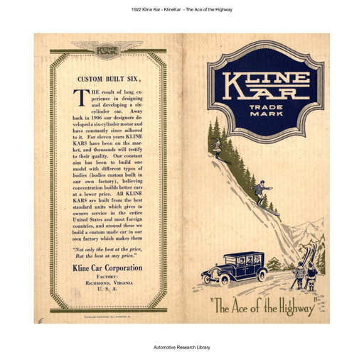 1922 Kline Kar   The Ace of the Highway (5pgs)