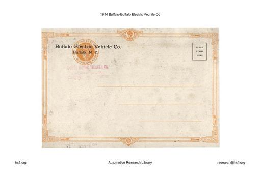 1914 Buffalo   Electric Vechile Co (9pgs)