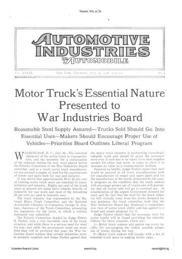 Auto Industries 1918 07 25