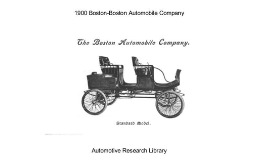 1900 Boston Automobile Co (18pgs)