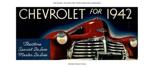 1942 Chevrolet   Fleetline, Special Deluxe, Master Deluxe (16pgs)