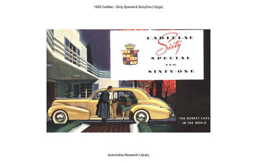1939 Cadillac   Sixty Special & SixtyOne (12pgs)
