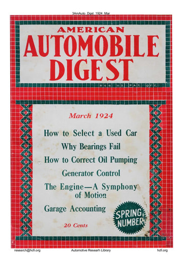 American Automobile Digest - 1924 March