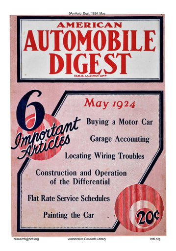 American Automobile Digest - 1924 May