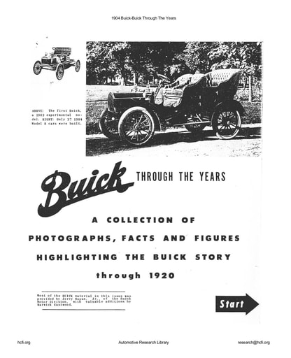 1904 Buick   Buick Through The Years (11pgs)