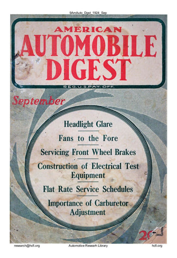 American Automobile Digest - 1924 September