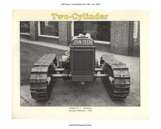 1925 Deere   2 Cyl  Vol  VI No  I Jan  (68pgs)