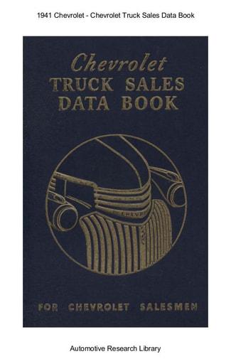 1941 Chevrolet   Sales Data Book (343pgs)