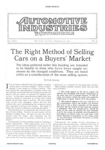 Auto Industries 1920 12 30
