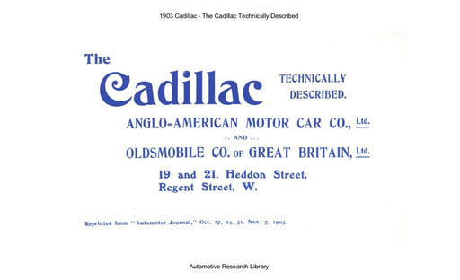 1903 Cadillac   Technically Described (43pgs)