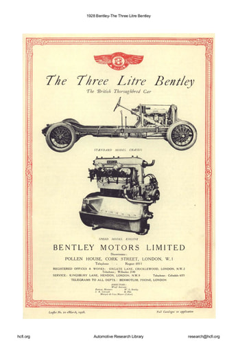1928 Bentley   The Three Litre (6pgs)