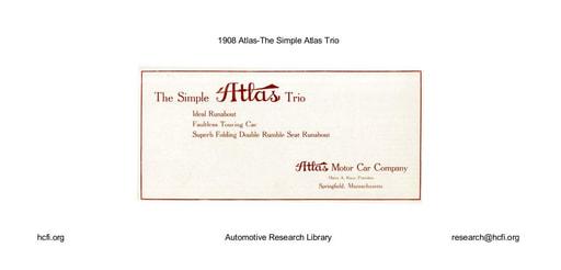 1908 Atlas   The Simple Atlas Trio (6pgs)