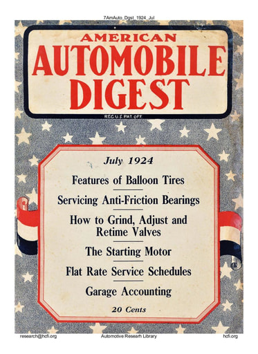 American Automobile Digest - 1924 July