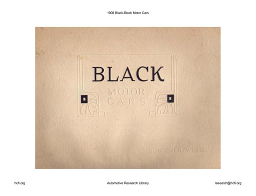 1908 Black   Motor Cars (48pgs)