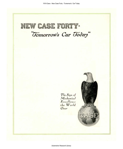 1916 Case   The New Forty   Tomorrow's  Car Today (5pgs)