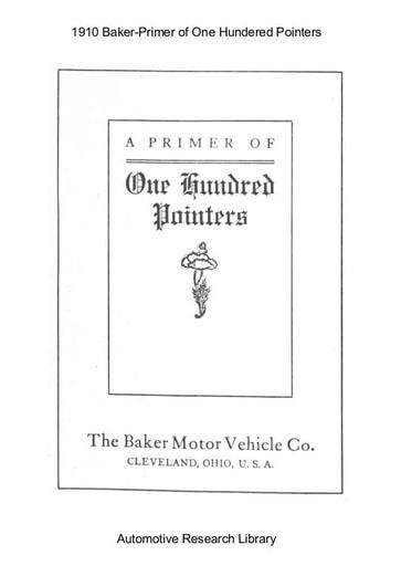 1910 Baker   Primer of One Hundered Pointers (17pgs)