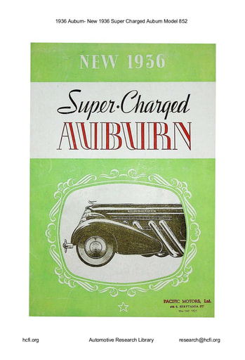 1936 Auburn   New Super Charged Model 852 (8pgs)