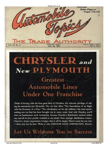 Auto Topics | 1931 Jul 18