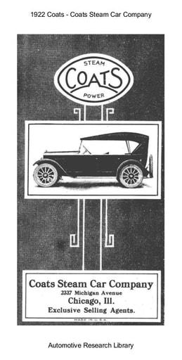 1922 Coats Steam Car Company (18pgs)