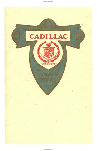 1907 Cadillac Mod  K, M (33pgs)