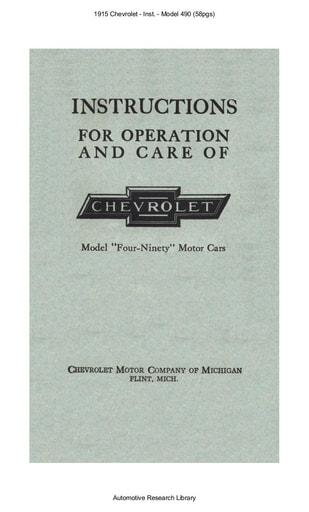 1915 Chevrolet   Inst    Model 490 (58pgs)