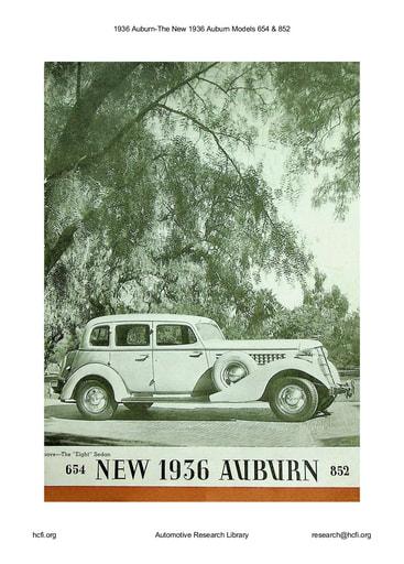 1936 Auburn   The New Models 654 & 852 (15pgs)