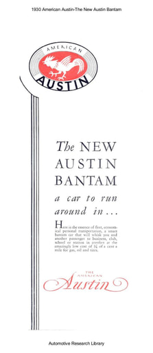 1930 American Austin   The New Bantam (7pgs)