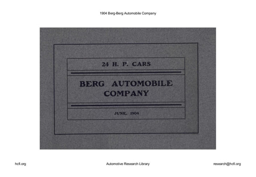 1904 Berg Automobile Co (9pgs)