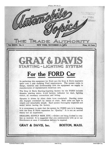Auto Topics | 1914 Nov 21