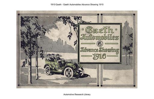 1910 Gaeth   Advance Showing (8pgs)