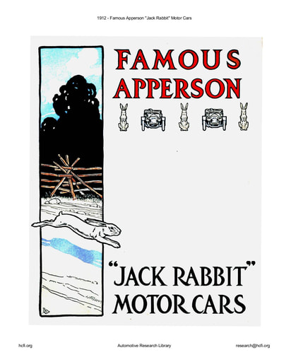 1912 Apperson   ''Jack Rabbit'' Motor Cars (38pgs)