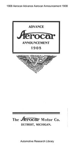 1908 Aerocar   Advance Announcement (10pgs)