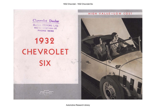 1932 Chevrolet   Six (18pgs)